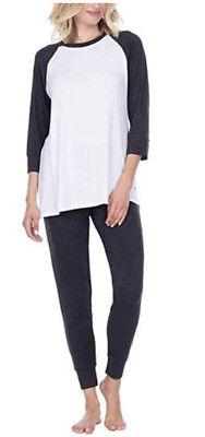 Honeydew 2 PC Lounge Pants Size SMALL  White Black  Pants NEW