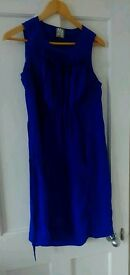 Beautiful and elegant Topshop 100% Silk Maternity Dress - Euro 38, UK 10, excellent condition