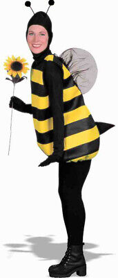 Bumblebee Bee Adult Mens Womens Costume Standard Size NEW Black Yellow](Mens Bee Costume)