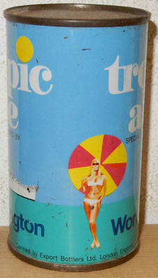 WORTHINGTON TROPICAL ALE Flat Top Beer can from ENGLAND (34cl)