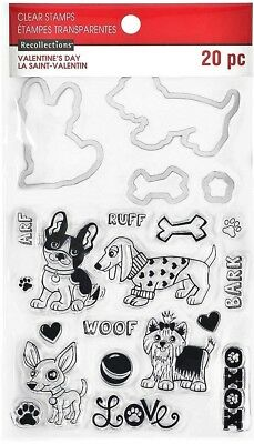 Dog & Bone Valentine's Day Clear Stamp and Die Set by Recollections 535748 NEW!