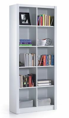 Ciara 5 Tier Bookcase Room Divider Display 10 Cube Shelf Unit in White