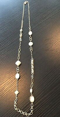 Women's Ann Taylor Loft Gold Chain Stone Necklace Jewelry Accessory for sale  Shipping to Nigeria