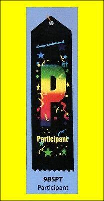Participant Award Ribbon carded & string, LOT OF 10](Participant Ribbon)