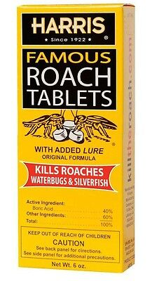 Harris Hrt6 Famous Roach Killer Tablets Contains  100 Tablets With Boric Acid