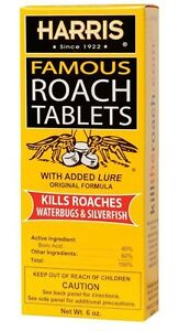 Harris HRT6 Famous Roach Killer Tablets Contains >100 Tablets with Boric Acid &