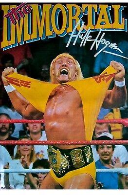 WWF Hulk Hogan Official Poster Rolled Unopened WWE 1991