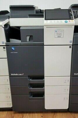 Konica Minolta Bizhub C368 Copier Printer Scanner- Stapler Finisher Low Meter