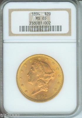 1894 $20 LIBERTY DOUBLE EAGLE NGC MS65 MS 65 LY SEEN ANYWHERE