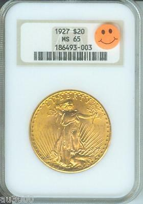1927 $20 ST. GAUDENS DOUBLE EAGLE NGC MS65 SAINT MS 65 OLD HOLDER PQ