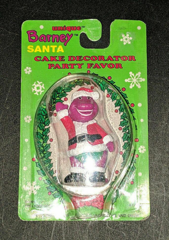 Barney Santa Cake Decorator Party Favor