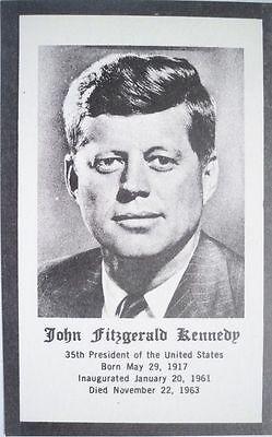 50 Vintage President John F. Kennedy Prayer Cards MINT