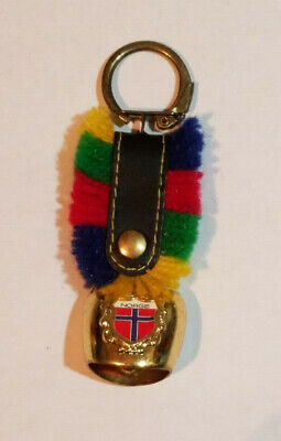 Norge, Cow Bell Metal Keychain, Norwegian, Norway](Cowbell Keychain)