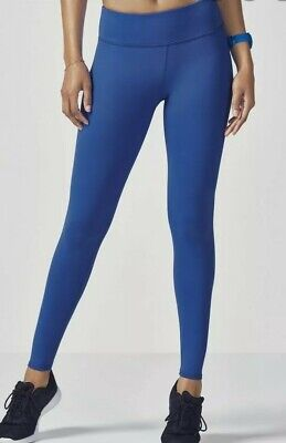 Fabletics salar solid leggings gym fitness yoga pants bright blue XS uk 8