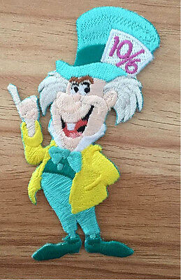 Disney Mad Hatter (Mad Hatter - Alice In Wonderland - Disney - Embroidered Iron On Applique Patch B)