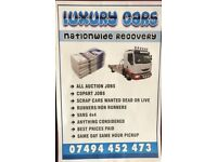 RECOVERY CARS SCRAP CARS WANTED TRUCK NATION WIDE SERVICE 24/7 RESCUE DELIVERY BREAKDOWN