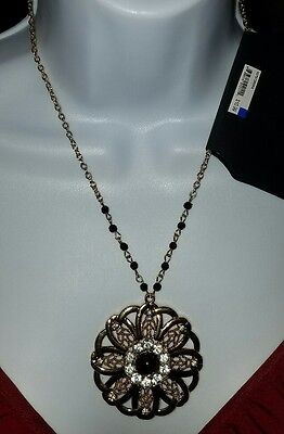 Pure Expressions Flower Pendant Goldtone Necklace, Hypo-Allergenic