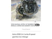 Vauxhall opel gm 1.4 turbo gearbox astra k sri low mileage