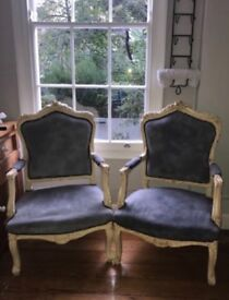 Vintage arm chair pair