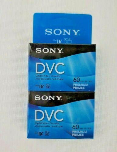 Sony DVC Digital Video Cassette Premium Lot of 2 Mini DV New Sealed DVM60PRR/2