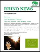 Guest Speaker Barry Weatherall at Rhino Safety