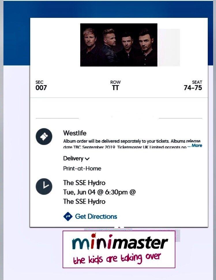 Westlife Tour 2019 Tickets Glasgow | in Cumbernauld, Glasgow | Gumtree