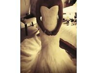 Stunning fishtail wedding dress