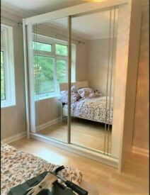 💥💯FLASHSALE 2 AND 3 DOORS SLIDING WARDROBES WITH FULL MIRRORS, SHELVES, RAILS