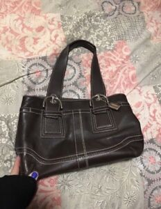 Authentic Coach Chocolate Brown leather purse