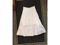 "27"" waist white vintage skirt"