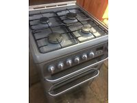 Hotpoint dual fuel (gas electric) cooker-graphite
