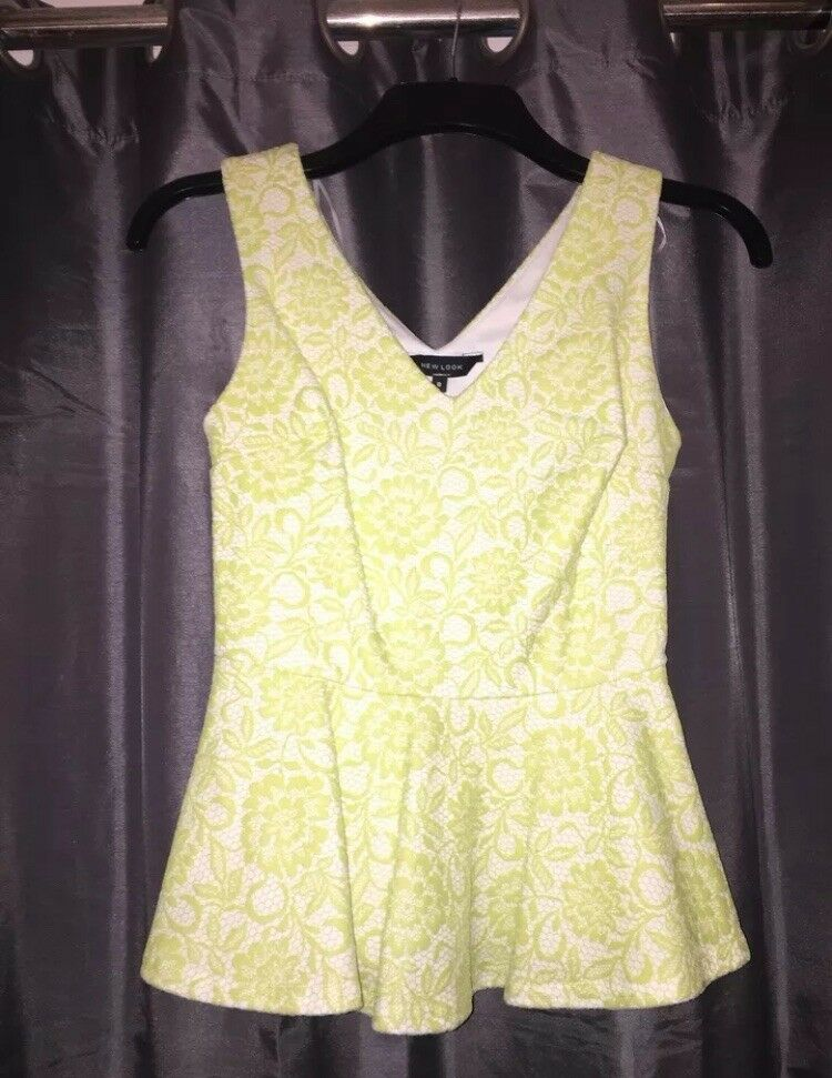 Floral Peplum Top - Size 8 - only worn once!