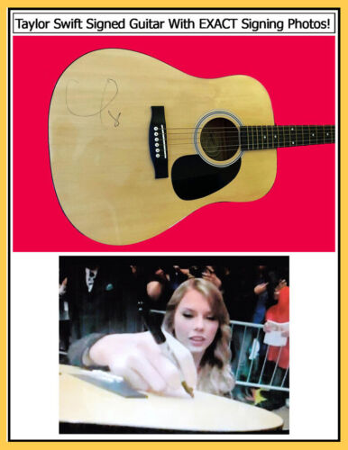 TAYLOR SWIFT SIGNED GUITAR W/SIGNING PHOTOS & VIDEO PROOF!