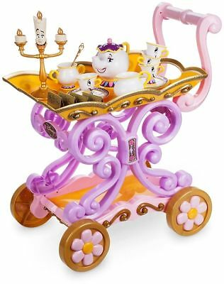 Belle Tea Cart Party Trolley Beauty and the Beast Potts Play Girls Toy Gift