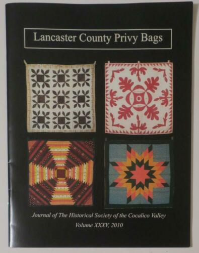 Lancaster County Quilt crafted Privy Bags Booklet,color Photos,details,patterns
