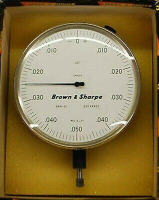 .025 Range Dial Indicator 0.001 Jeweled Brown Sharpe Gold And White