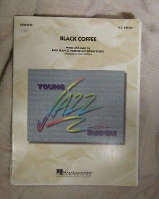 Black Coffee Sheet Music Full Score Sax Trumpet Trombone Guitar Bass Drums - Full Score Sheet Music