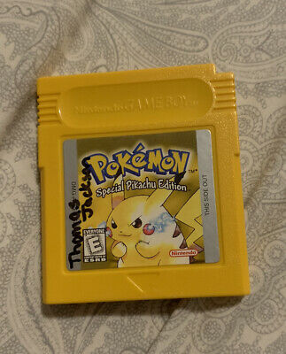 Pokemon Yellow Nintendo Game Boy Color Authentic