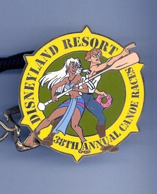 Disney Cast Canoe Races Atlantis Princess Kida & Milo Thatch Pin Lanyard ID - Disney Princess Kida