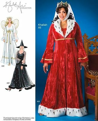 ANGEL, WITCH, QUEEN, HALLOWEEN COSTUMES SEWING PATTERN OOP PLUS SIZE - Size 24w Halloween Costumes