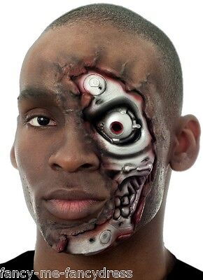 Halloween Make Up Set (Mens Halloween Robot Special Effects Make Up Fancy Dress Costume Outfit)