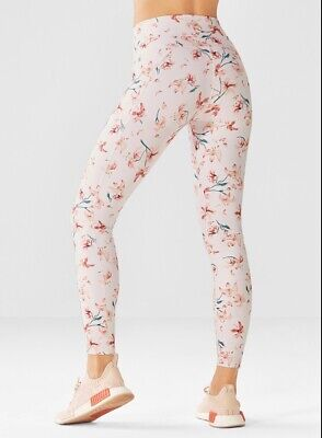 Fabletics Floral High Waisted Powerhold 7/8 Legging XS