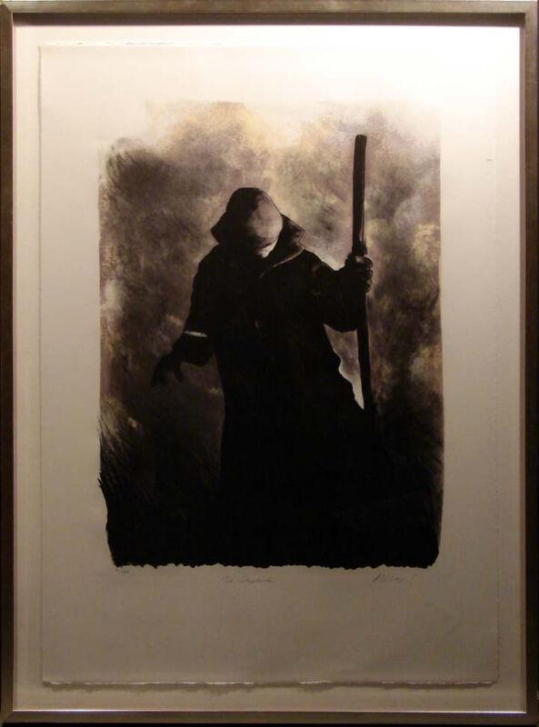 """Mackenzie Thorpe """"the Shepard"""" Etching Hand Signed W/custom Frame Make An Offer!"""