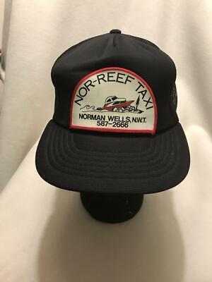 Vintage Nor-Reef Taxi Norman Wells Northwest Territories Patch Snapback Hat Cap](Reef Hats)