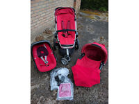 Quinny Buzz travel system with Maxi-Cosi Pebble car seat - Rebel Red