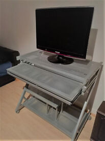 "Computer desk, grey, also can be sold with Samsung 24"" Monitor as a bundle"