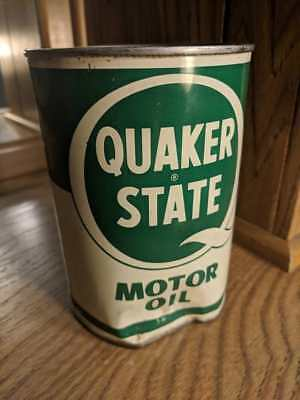 Vintage Retro Quaker State Motor Oil 1 Quart Metal Can - Empty for sale  Shipping to Canada