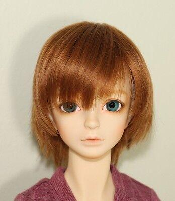 "Volks Wolf Short Wig in Cork Brown 8~9"" DD 1/3 BJD Doll Wig W-104D"