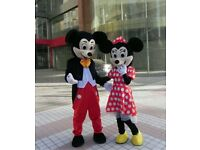 Mickey & Minnie Mouse Mascot/Costume for Hire , Perfect for Kids Parties or other events