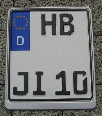 Motorrad-Kennzeichen/Autoschild/Nummernschild 180x200, 200x200, 220x200mm